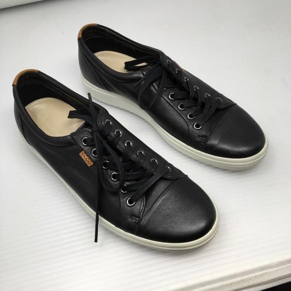 Ecco Shoes | Mens Soft 7 Black Sneakers